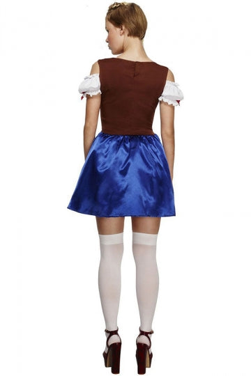 Blue Ladies Sexy Beer Maid Costume