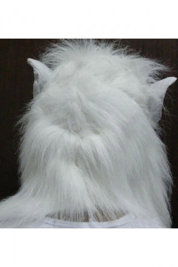 White Horrible Wolf Latex Halloween Mask