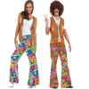 Couple Retro Fashionable Disco Hip Hop Costumes for Halloween