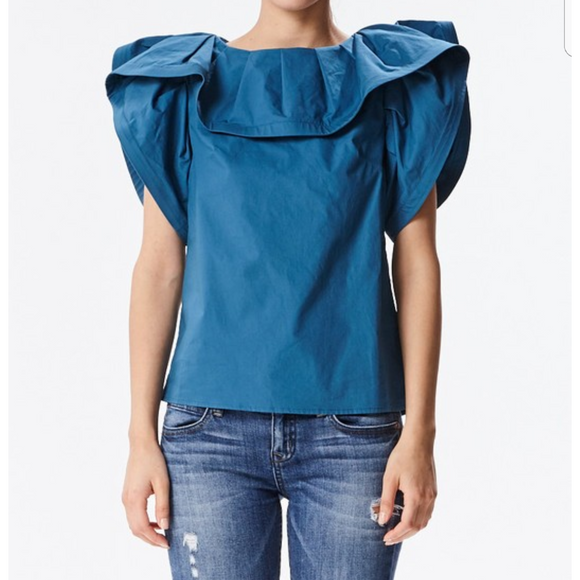 Jamina Structured Shoulder Blouse