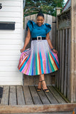 Lush Troll Metallic Pleated Skirt