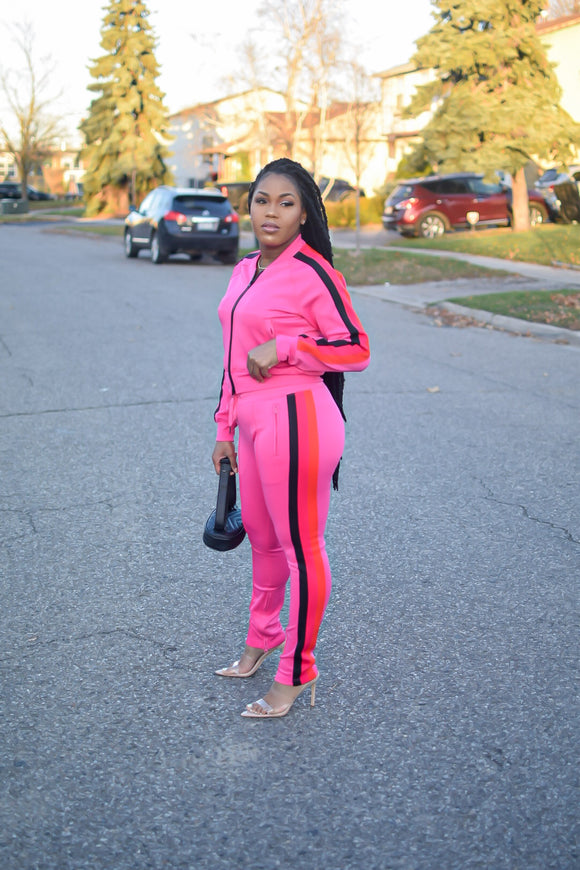 Pink Girl Track Suit
