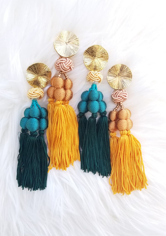 A- A Trio Fringe Earrings