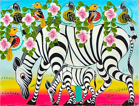 Tingatinga art from Tanzania's Cooperative Arts Society