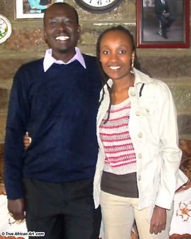 Evans Yegon with Website Owner, Gathinja