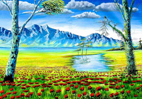 Nature scene imagined by Evans Yegon