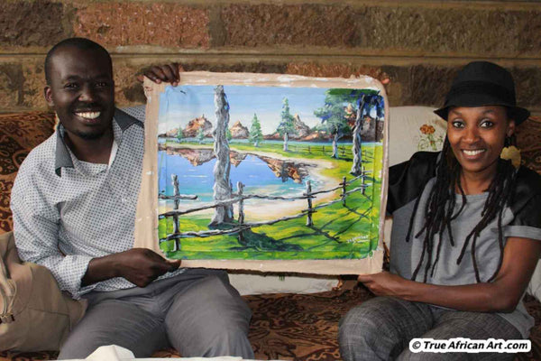 African Artist Evans Yegon with Website Owner, Gathinja