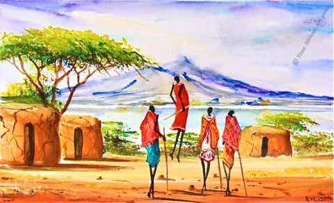 Maasai Tribe African Paintings