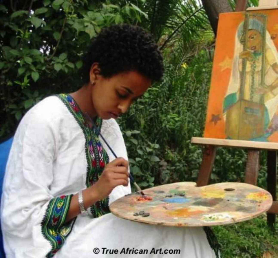 African artist from Ethiopia, Mahlet | True African Art .com