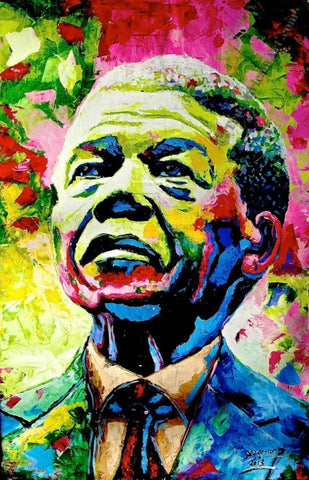 Nelson Mandela painting by African Artist, Evans Yegon