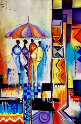 Olumide Egunlae One Umbrella  |  Gambia  |  True African Art .com