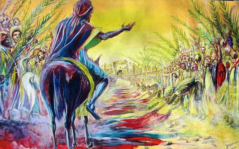 Palm Sunday interpretation by African Artist, Evans Yegon