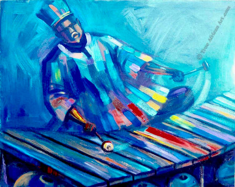Xylophonist by Ghanaian painter