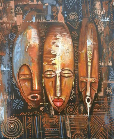 Paintings of African Masks | Appiah Ntiaw | True African Art .com