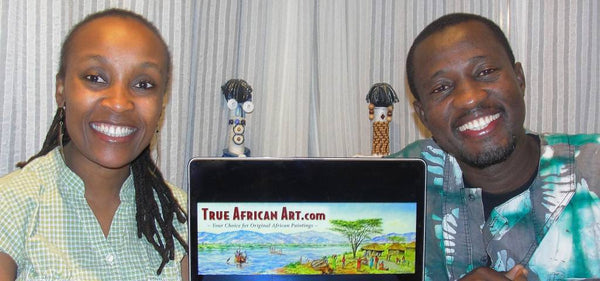 Website Owner Gathinja with Ghanaian artist, Ti Jay