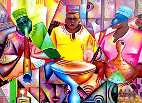 Musicians in Africa | Art from Ghana