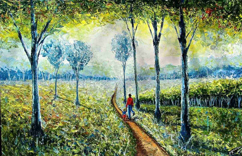 Forest Painting by Kenyan Evans Yegon