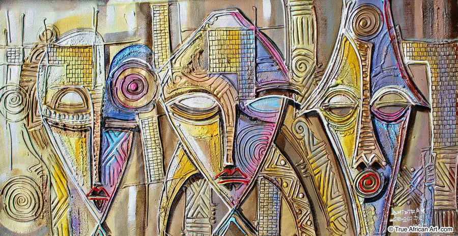 Paul Gbolade Omidiran - Three African Faces