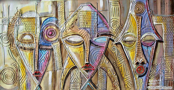 "Paul Gbolade Omidiran | Nigeria | ""Three African Faces"" 