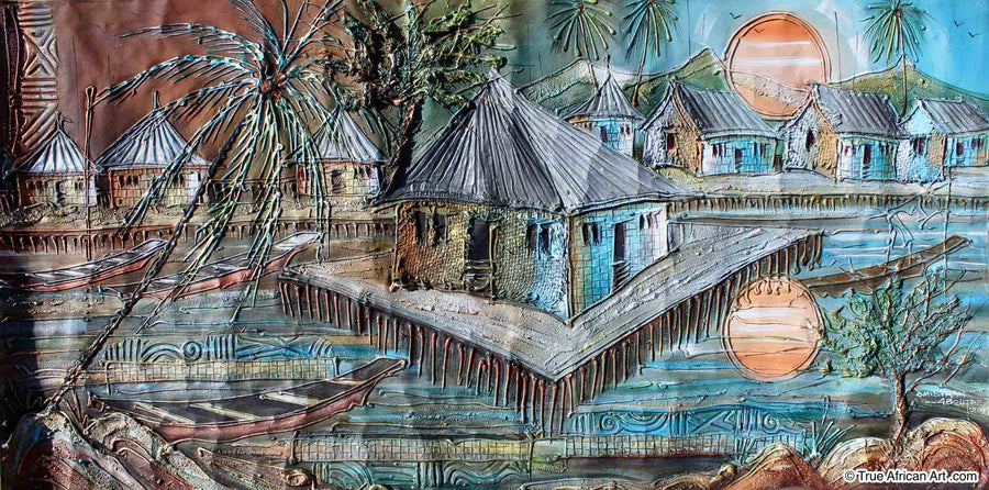 Paul Gbolade Omidiran - Riverine Village