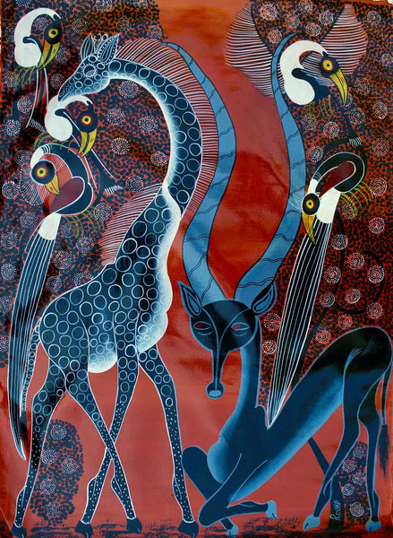 Tingatinga | Tanzania | TT-82  | Hand Painted | True African Art .com