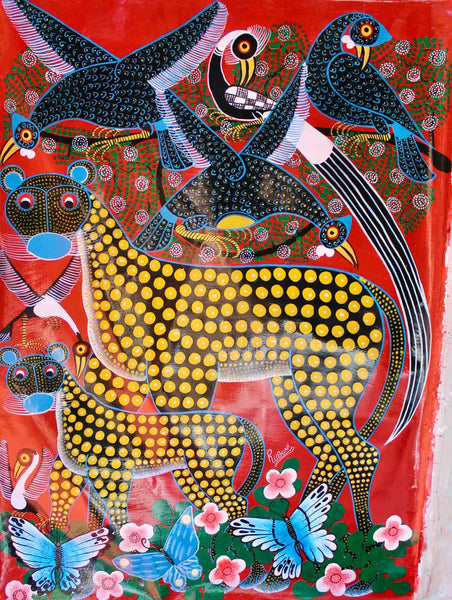 Tingatinga | Tanzania  | TT-84  |  Hand Painted | True African Art .com
