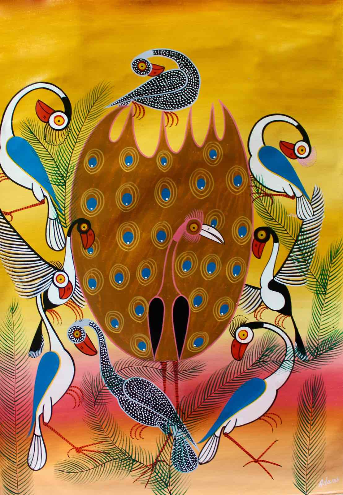 Tingatinga  |  Tanzania  |  TT-87  |  Hand Painted   |  True African Art .com