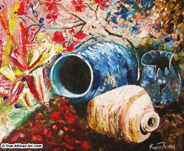 "Kowie Theron  -  ""African Pot Garden""  -  True African Art.com"