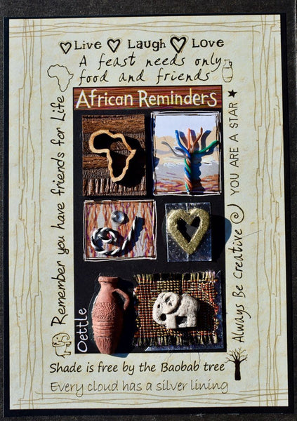 "South Africa Cards  -  ""African Reminders""  -  True African Art.com"