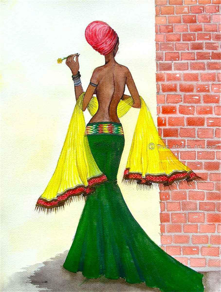 Mahlet  |  Ethiopia  |  Around the Corner  |  Print  |  True African Art .com