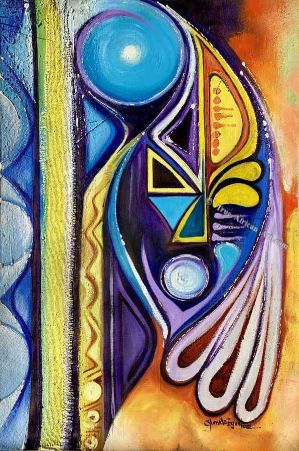 Olumide Egunlae - Blue Abstract