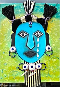 "Gathinja  -  ""Blue Child""  -  True African Art.com"
