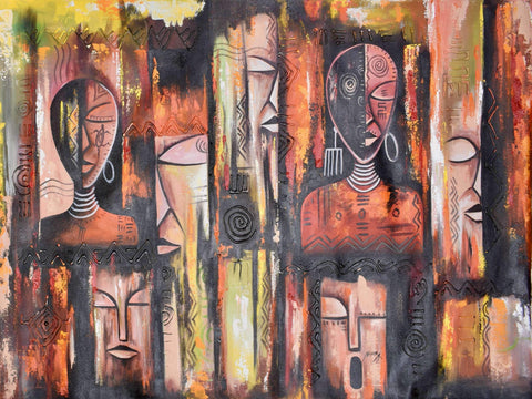 "Daniel Akortia  -  ""Face Mask""  -  True African Art.com"
