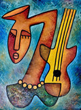 "Elisha Ongere  -  ""Girl with Guitar""  -  True African Art.com"