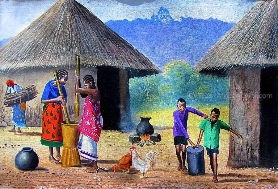 "Many Artists - Jane Wanjeri | Kenya | ""Village Chores"""