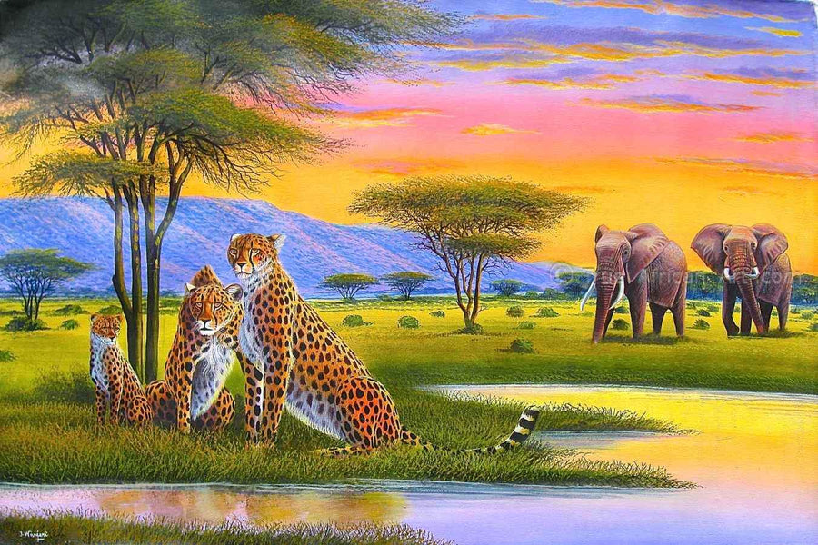 "Many Artists - Jane Wanjeri  |  Kenya  |  ""Sunset Watch"""