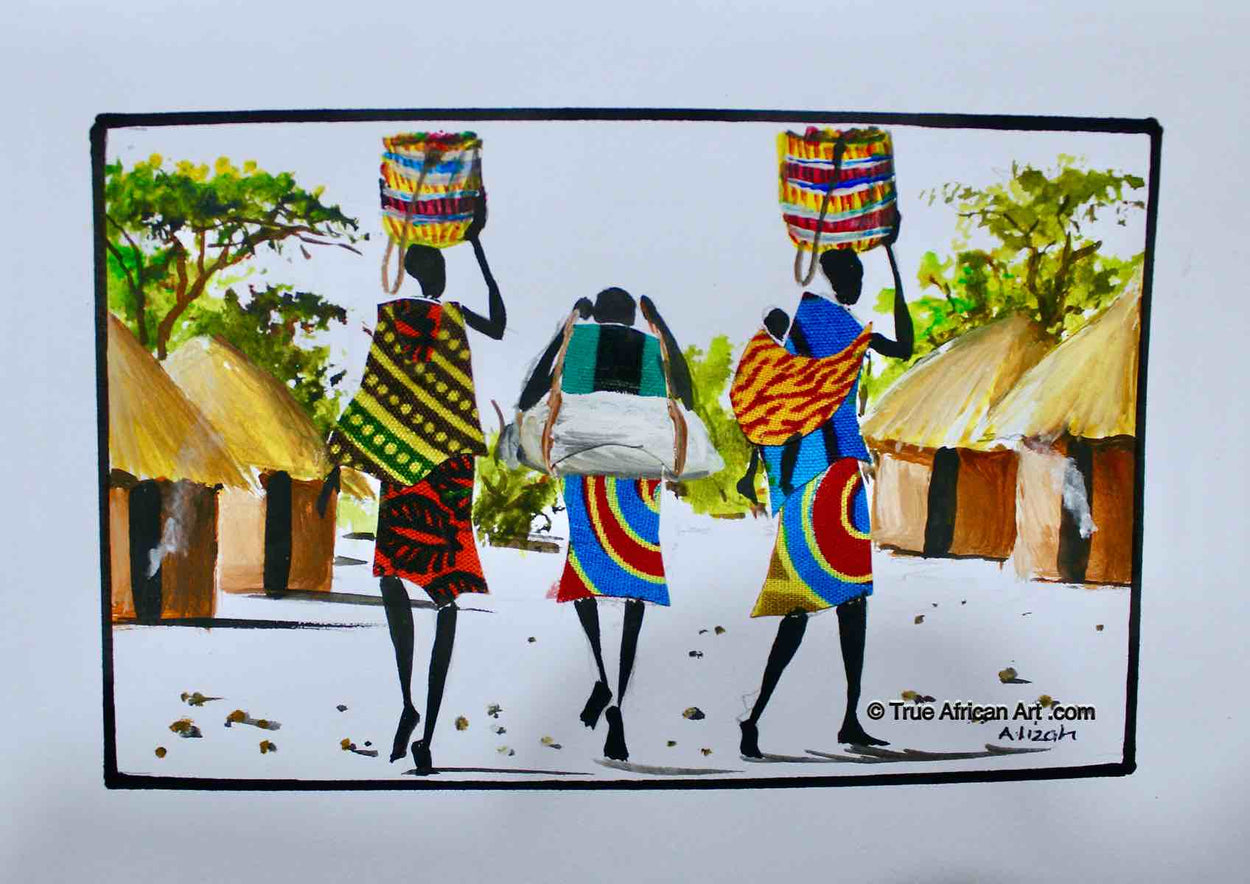 Albert Lizah |  Kenya  |  L-312  |  Original  |  True African Art .com