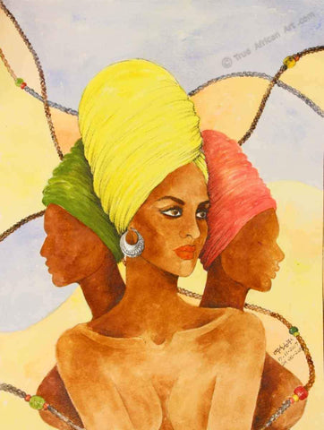 Mahlet  |  Ethiopia  |  Leader of Three |  Print  |  True African Art .com