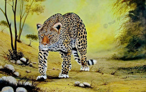 Wycliffe Ndwiga  |  Kenya  |  Leopard on the Move  |  Print  |  True African Art .com