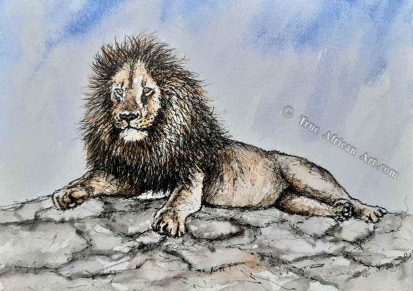 "Steve Mbatia | Kenya |  ""Lion on a Rock"" 
