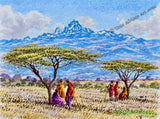 Maasai at Mount Kenya | Joseph Thiongo | True African Art .com