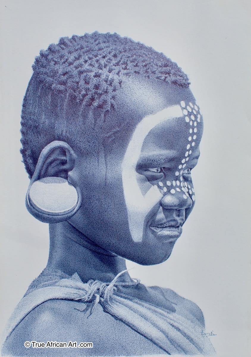 Enam Bosokah - Mursi Girl with EarPlates