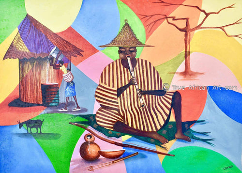 Francis Sampson | Music and Work | True African Art .com