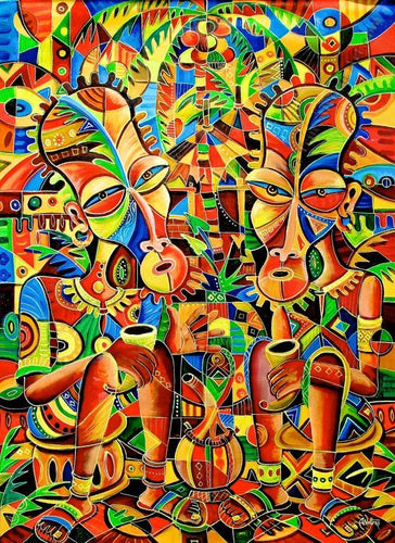 My Best Friend | Angu Walters | True African Art .com