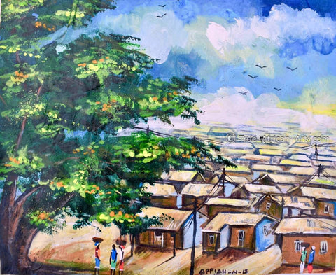"""My Town"" - Appiah Ntiaw - True African Art .com"