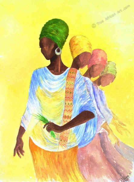 Mahlet  |  Ethiopia  |  Reflection  |  Print  |  True African Art .com