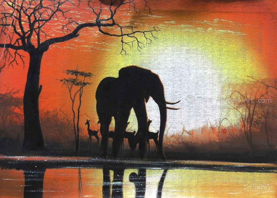 "Many Artists - Mwangi  |  Kenya  |  ""Sunrise in Africa"""