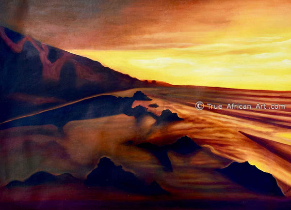 Francis Sampson  |  Sunrise in Africa  | Original  |  True African Art .com