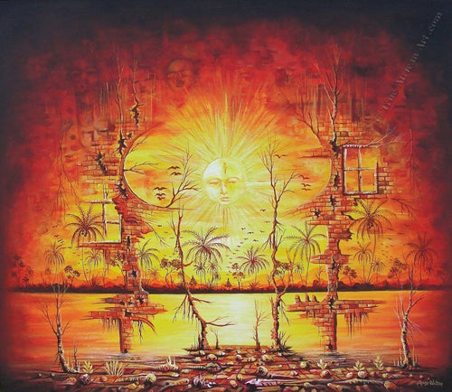 "African Artist from the Cameroon | ""Sunshine on my Mind""   Print"