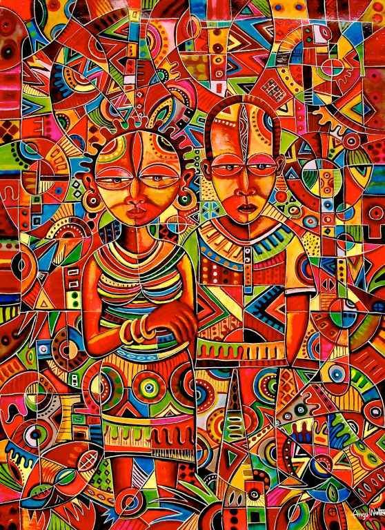 "Artist Angu Walters makes ""The Couple"". Print"